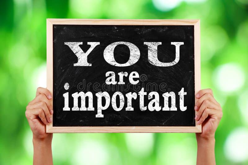 Usted es importante imagen de archivo libre de regalías