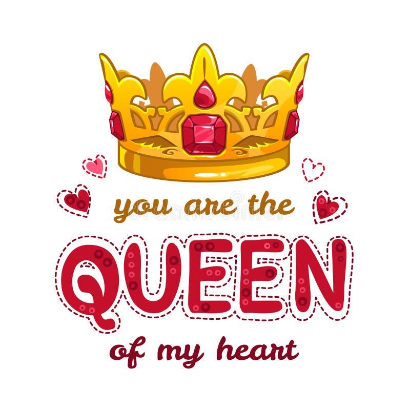Usted es la reina de mi corazón libre illustration