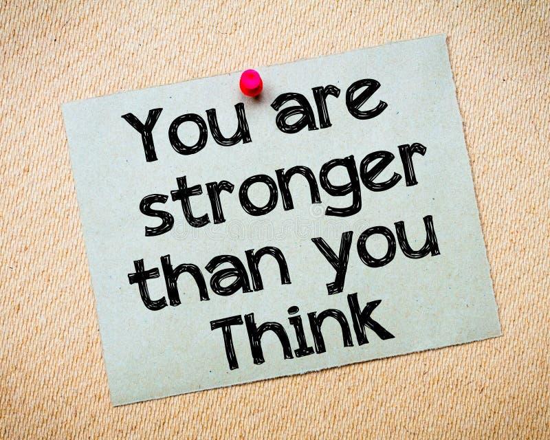 Usted es más fuerte que usted piensa fotografía de archivo libre de regalías