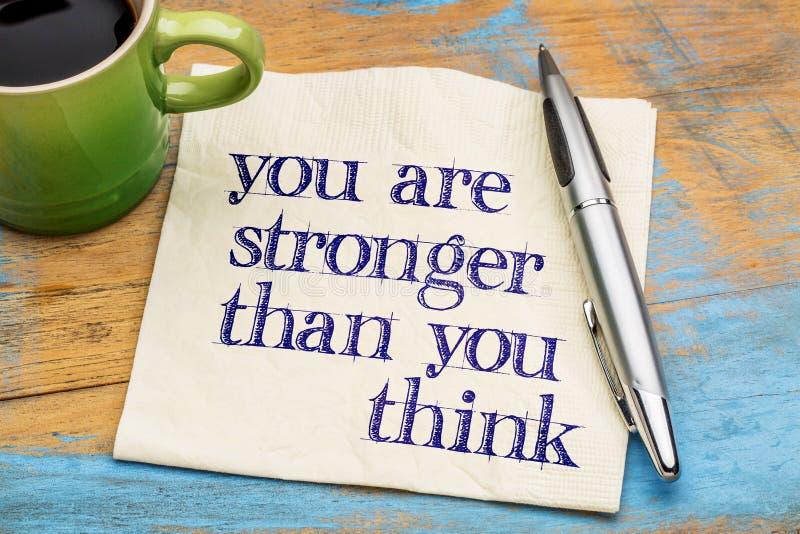 Usted es más fuerte que usted piensa imágenes de archivo libres de regalías