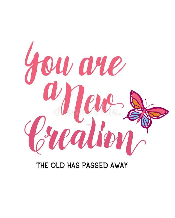 Usted es una nueva creación libre illustration