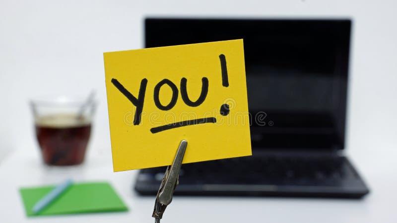 Usted escrito imagenes de archivo