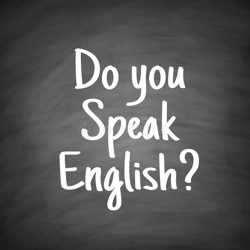Usted habla concepto de la lengua inglesa stock de ilustración