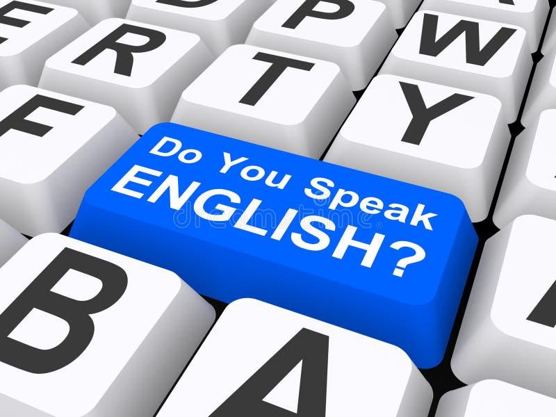 Usted habla el botón inglés libre illustration