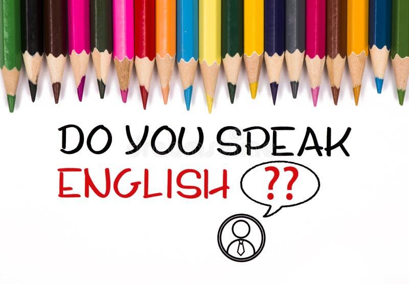Usted habla inglés stock de ilustración