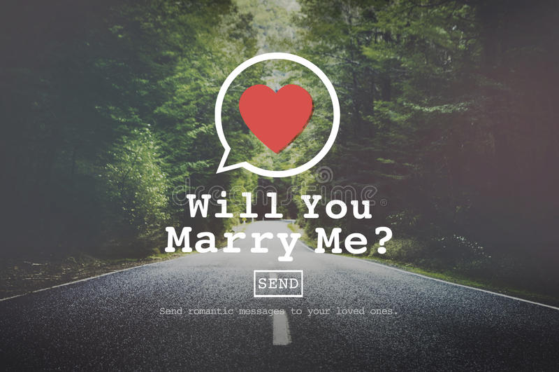 Usted me casará concepto de Valentine Romance Love Heart Dating imagen de archivo