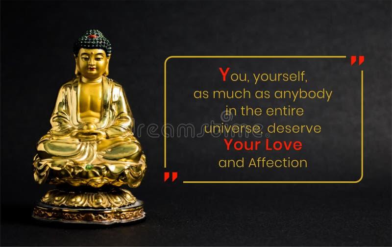 Usted, usted mismo, tanto como cualquiera en el universo entero, merece su amor y afecto foto de archivo