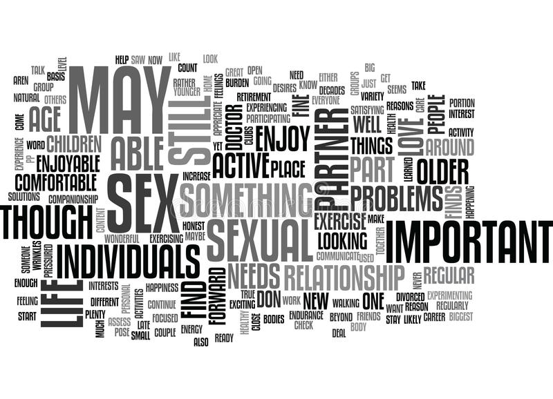 Usted sin embargo tendrá una vida sexual activa en su nube de la palabra stock de ilustración