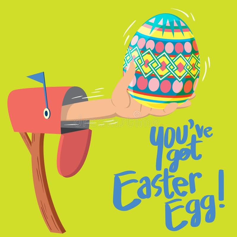 ¡Usted tiene el huevo de Pascua! ilustración del vector