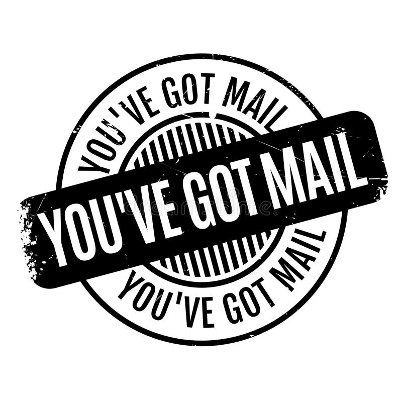 Usted tiene el sello de goma del correo ilustración del vector