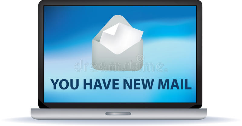Usted tiene nuevo correo stock de ilustración