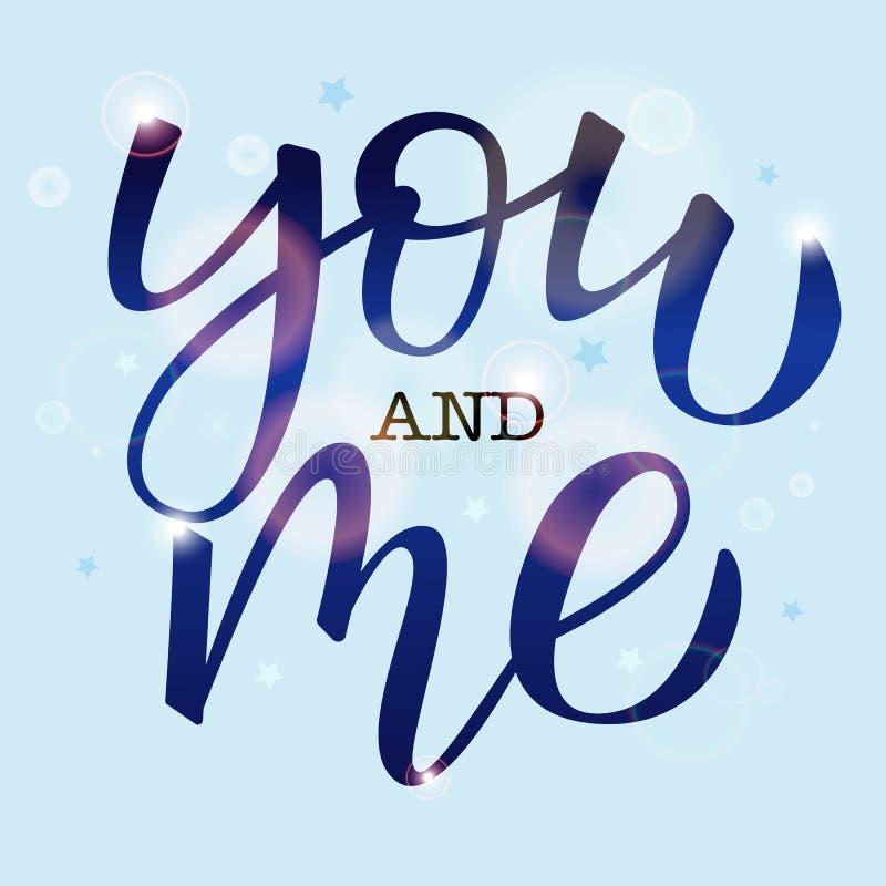 Usted y yo imagenes de archivo