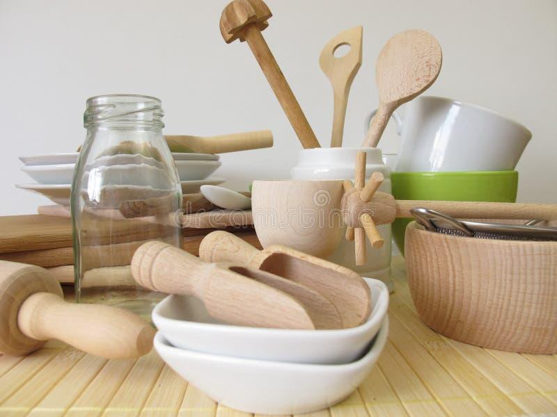 Ustensiles de cuisine sans plastique photos stock