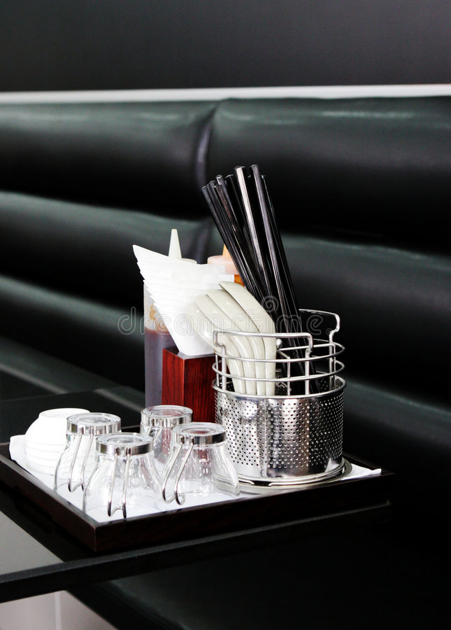 Ustensiles de restaurant images stock