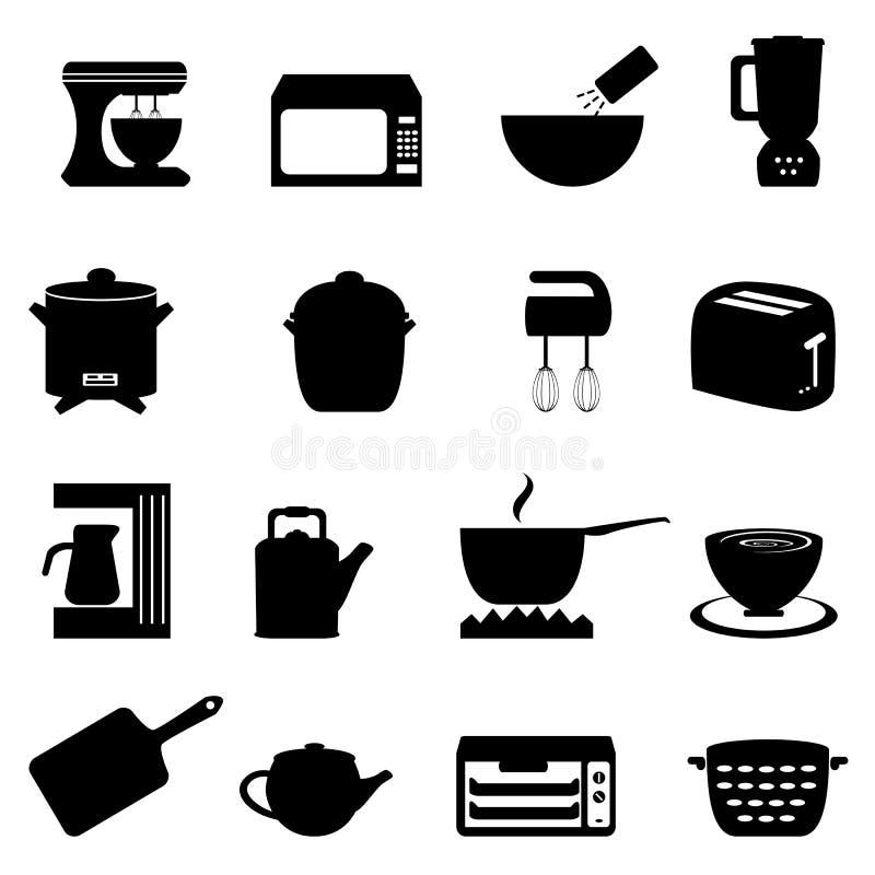 Ustensiles et éléments de cuisine illustration libre de droits