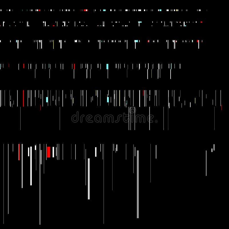 Usterka elementy ustawiający Ekranu komputerowego błędu szablony Cyfrowego piksla hałasu abstrakcjonistyczny projekt Wideo gry us ilustracja wektor