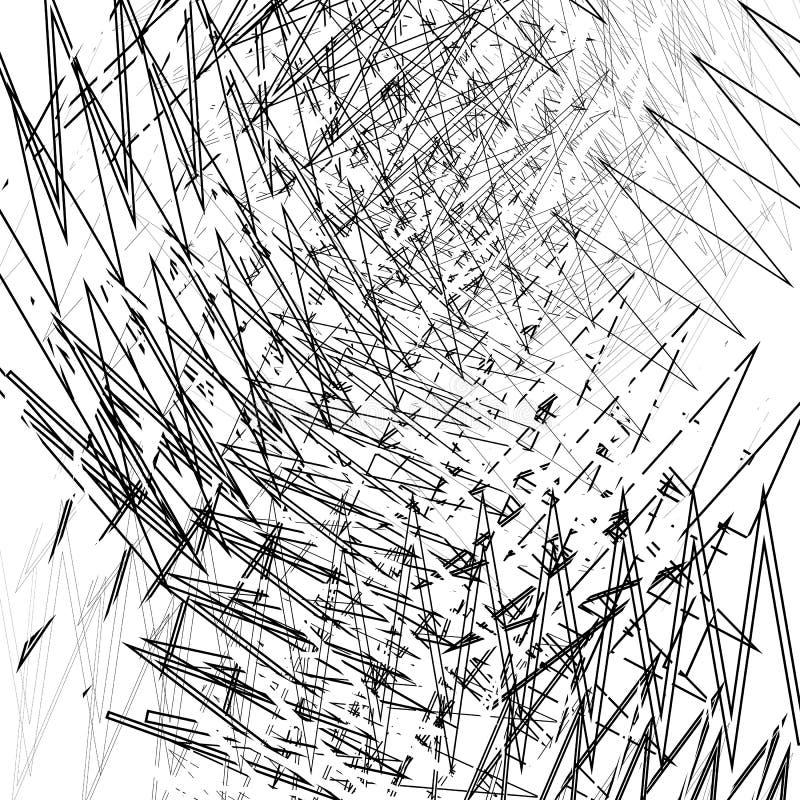 Usterka, hałas tekstura Nieregularny przypadkowy zygzag wykłada chaotycznego tex ilustracja wektor