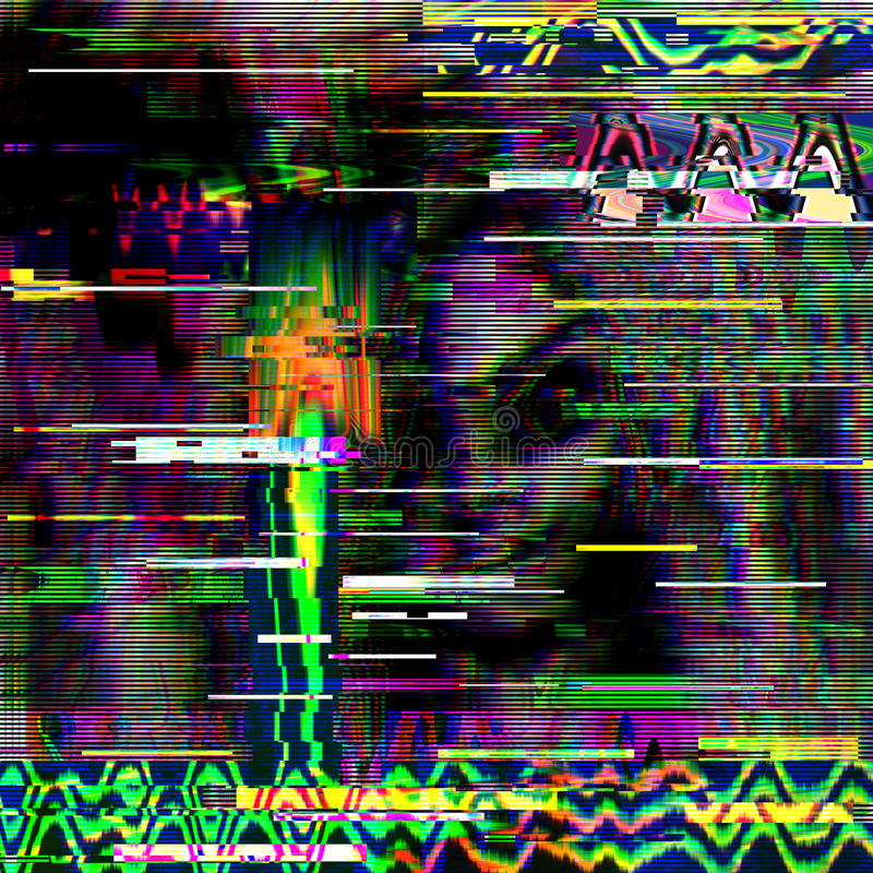 Usterki psychodeliczny tło Stary TV ekranu błąd Cyfrowego piksla hałasu abstrakcjonistyczny projekt Komputerowa pluskwa Telewizja zdjęcia royalty free