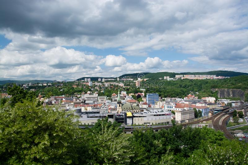 Usti nad Labem, Boêmia, República Checa foto de stock royalty free