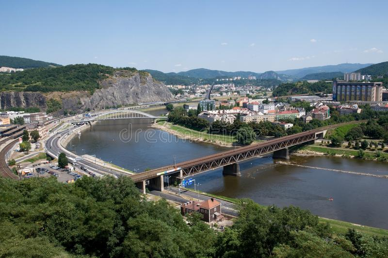 Usti nad Labem, Tjeckien royaltyfri foto
