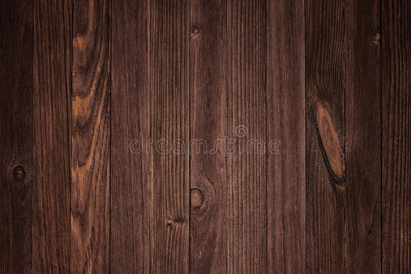 Ustic plank wood floorboard backdrop with vignette stock photography