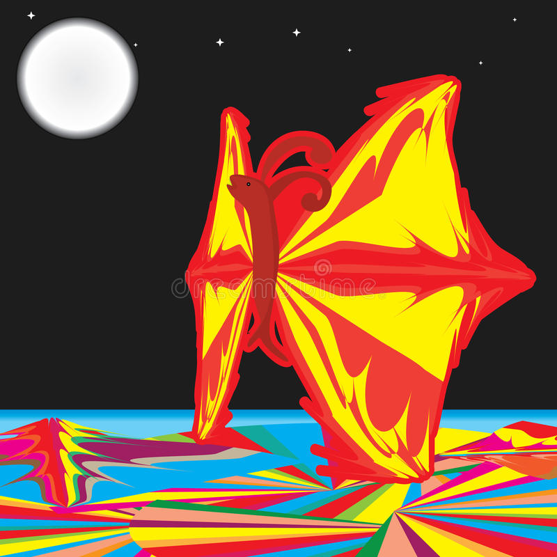 Ustione della farfalla illustrazione di stock