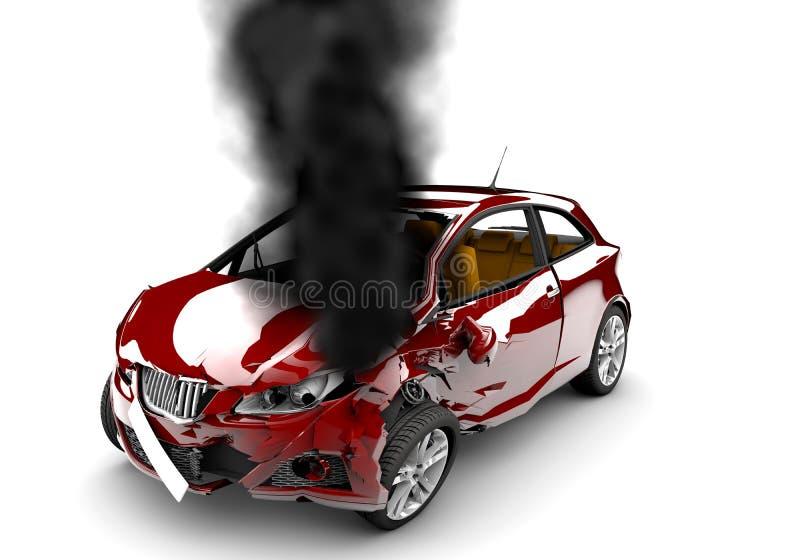 Ustione rossa dell'automobile illustrazione vettoriale