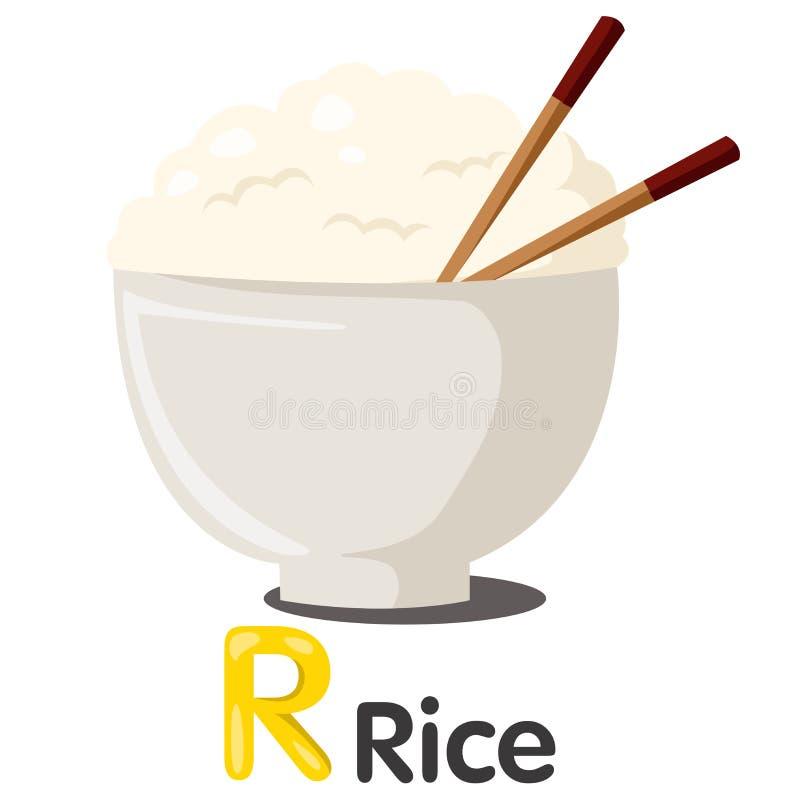 Ustrator R chrzcielnica z ryż ilustracji