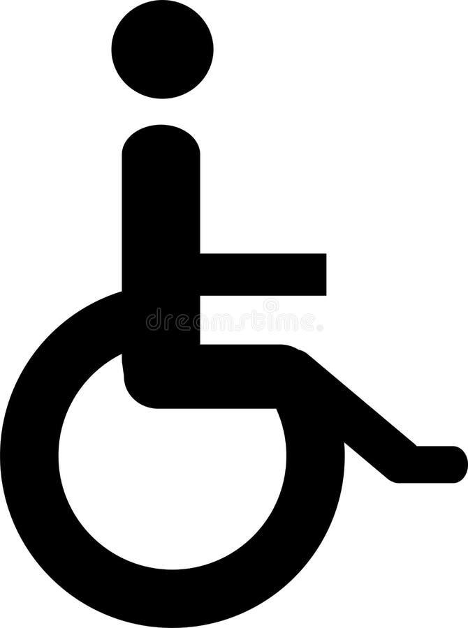 Usuário da cadeira de rodas ilustração do vetor