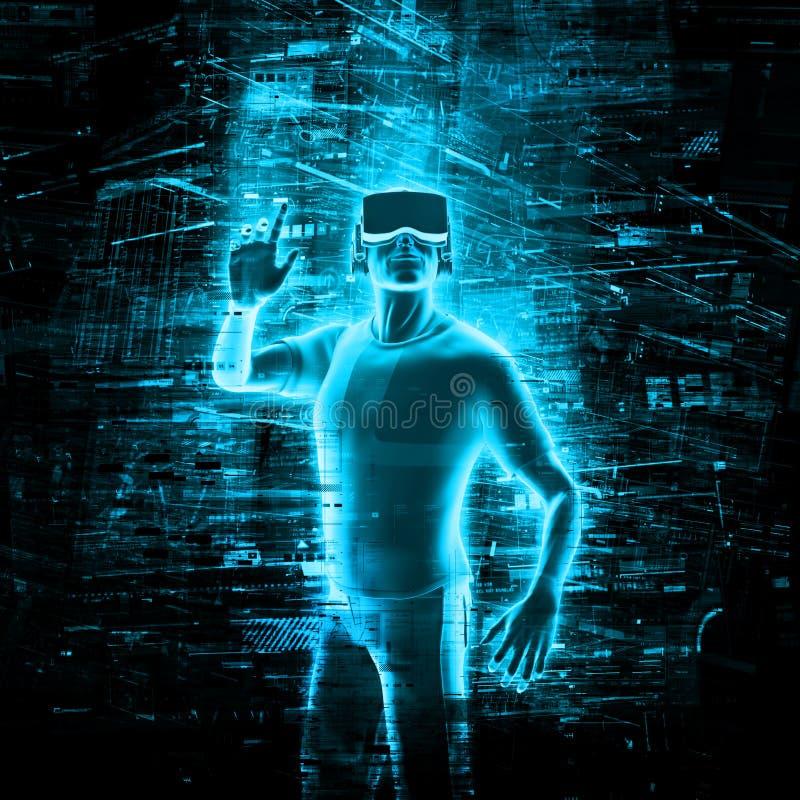 Usuário da realidade virtual ilustração do vetor