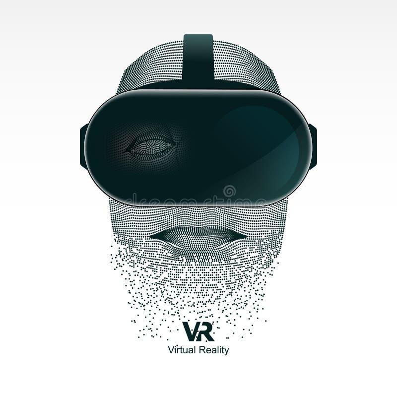 Usuário de Vr ilustração do vetor
