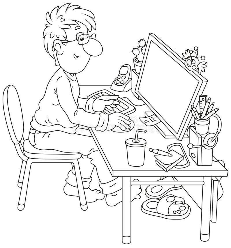 Usuário do computador ilustração royalty free