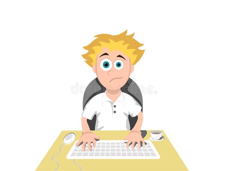 Usuário do computador ilustração do vetor