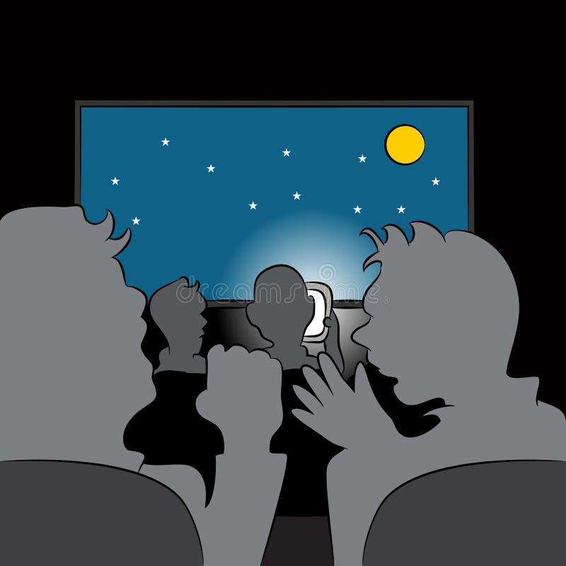 Usuário rude do telemóvel ilustração royalty free