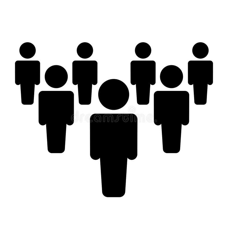 Usuários do grupo - vetor conservado em estoque ilustração stock