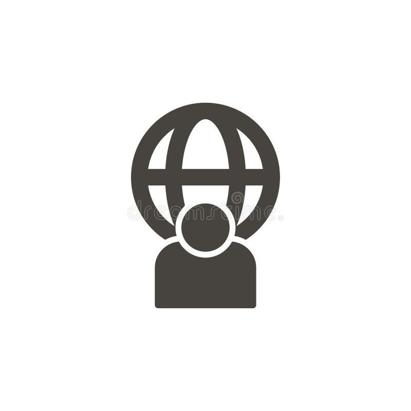 Usuario, icono global del vector IllustrationUser simple del elemento, icono global del vector Ejemplo material del vector del co libre illustration