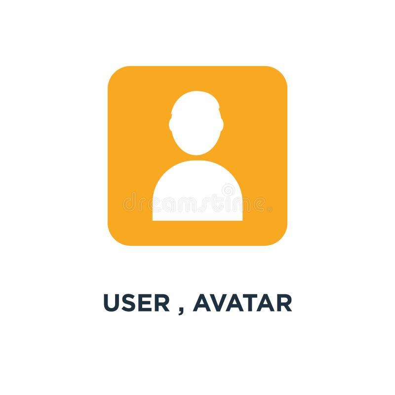 usuario, silueta del avatar, icono social symbo del concepto de la muestra del miembro stock de ilustración