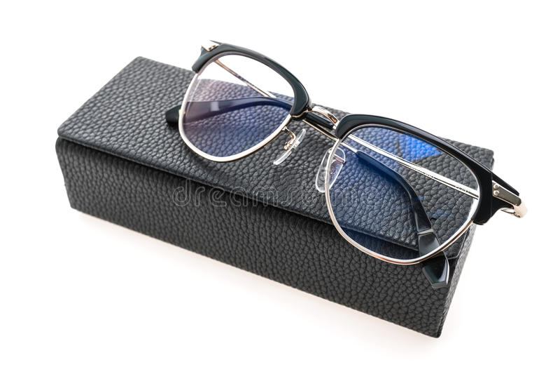 Usura degli occhiali fotografie stock