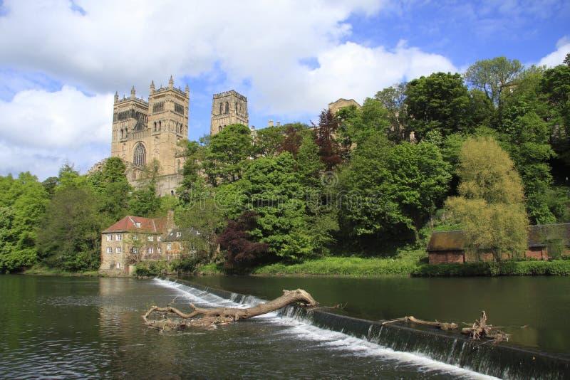 Usure de fleuve et cathédrale de Durham image libre de droits