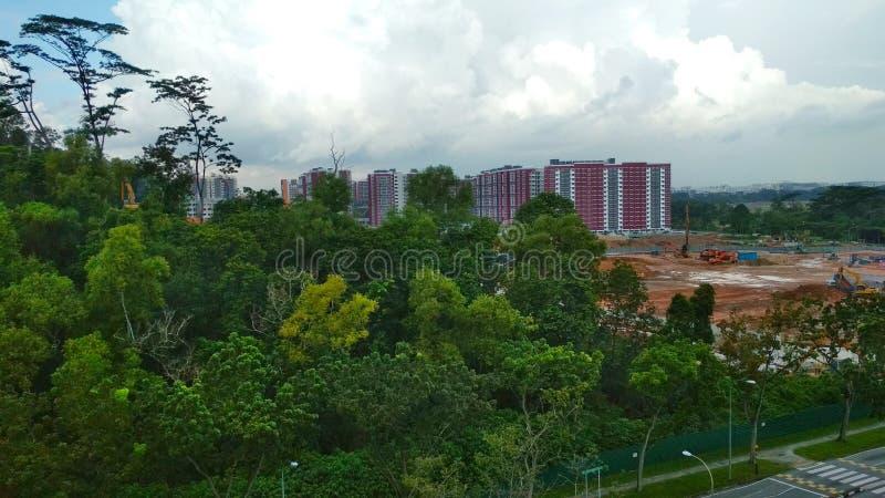 Usurpação urbana - Singapura fotografia de stock royalty free