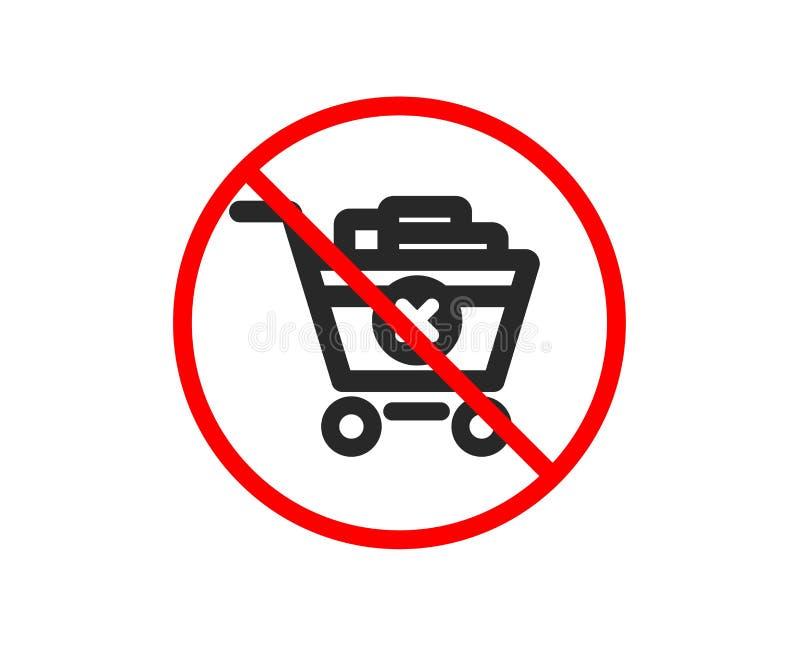 Usuwa w?zek na zakupy ikon? Online kupienie wektor ilustracji