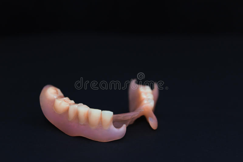 Usuwalni dentures elastyczni, pozbawiony nylon obrazy royalty free