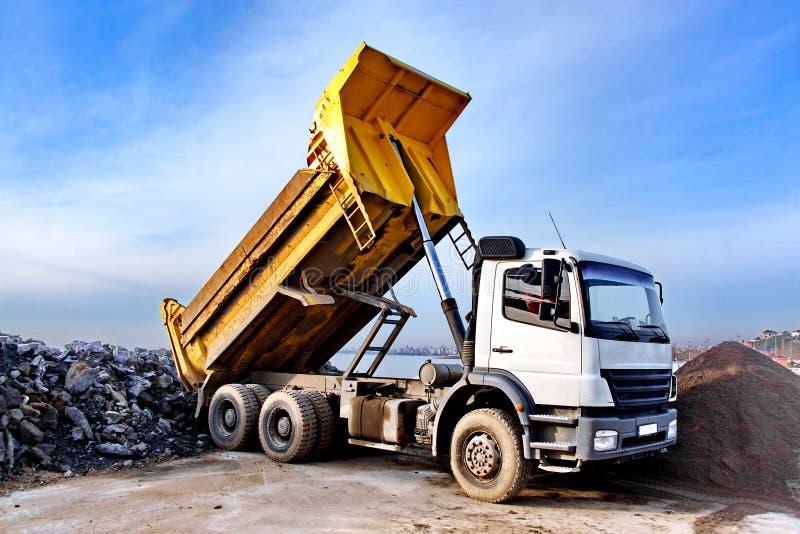 usyp ciężarówka zdjęcie royalty free