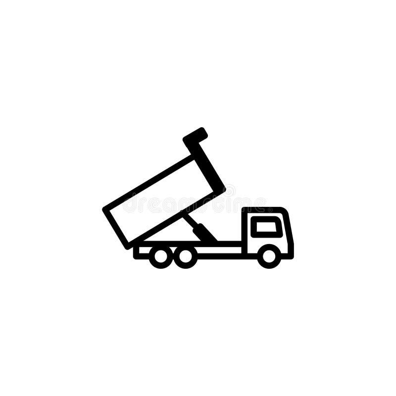 Usyp ciężarówki ikona kreskowego stylu ikony wektoru ilustracja royalty ilustracja
