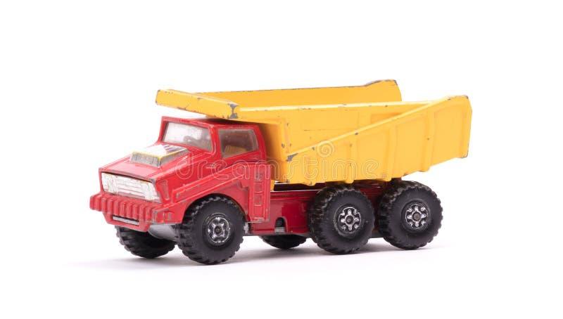 Usyp ciężarówki zabawka odizolowywająca zdjęcie stock