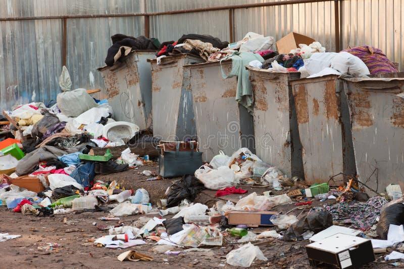 usypu śmieci zdjęcia stock