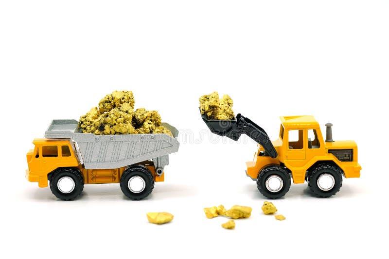 Usypu buldożer i fotografia stock