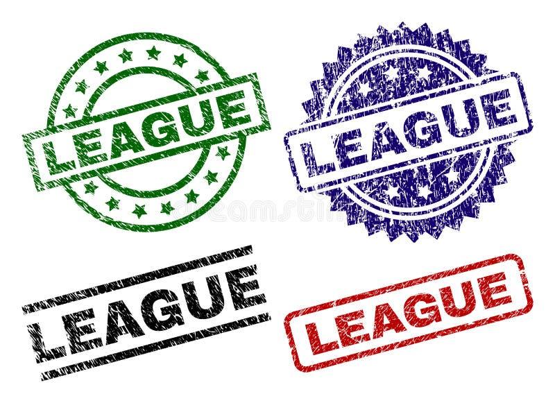 Uszkadzać Textured liga znaczka foki ilustracji