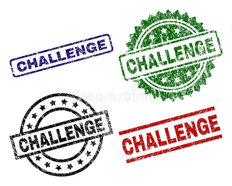 Uszkadzać Textured wyzwanie znaczka foki ilustracja wektor