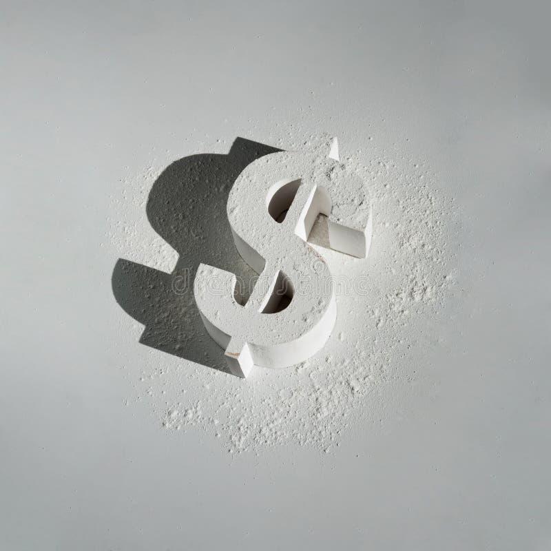 Uszkadzający dolar amerykański Na bielu zdjęcia royalty free